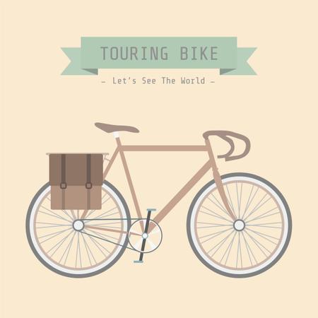 Touring Bike Illustration