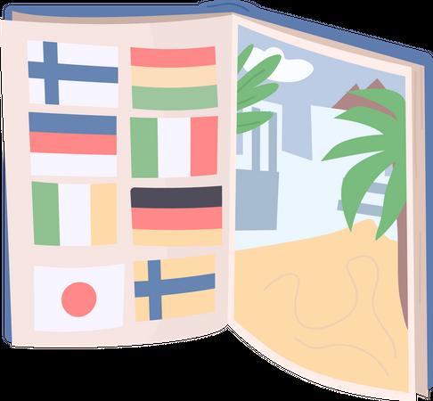 Tourist book Illustration