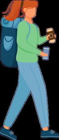 Tourist girl Illustration