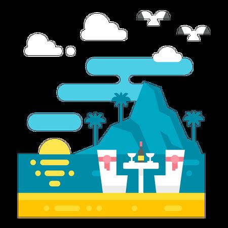 Tourist place Illustration