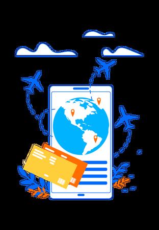 Touristic Online Services Illustration