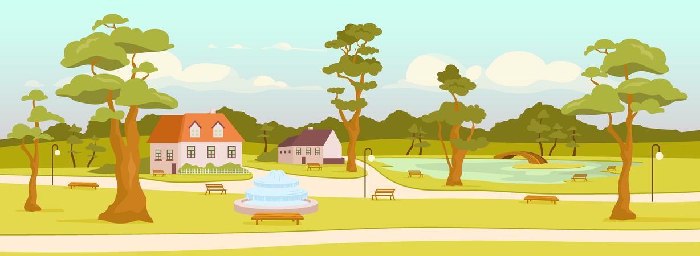 Town park Illustration
