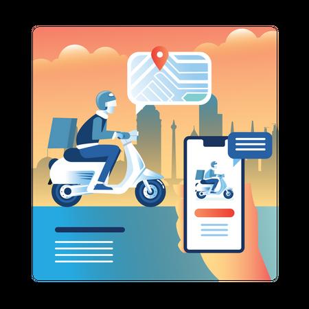 Track Delivery Illustration