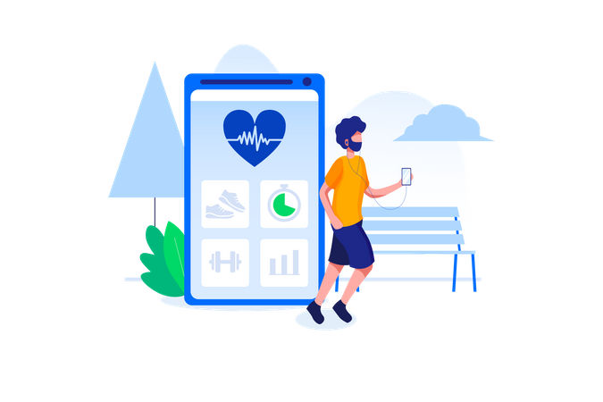 Track your activity Illustration