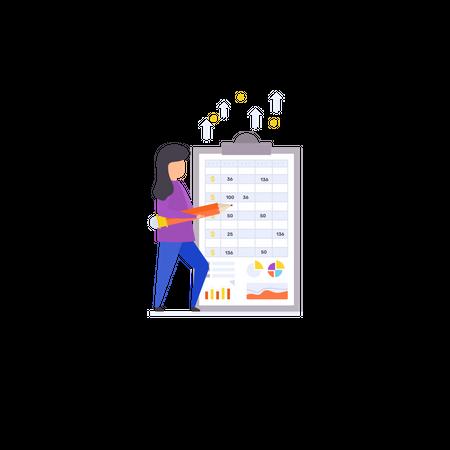 Track Your Spending Illustration