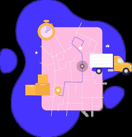 Tracking your order Illustration