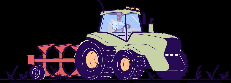 Tractor driver Illustration