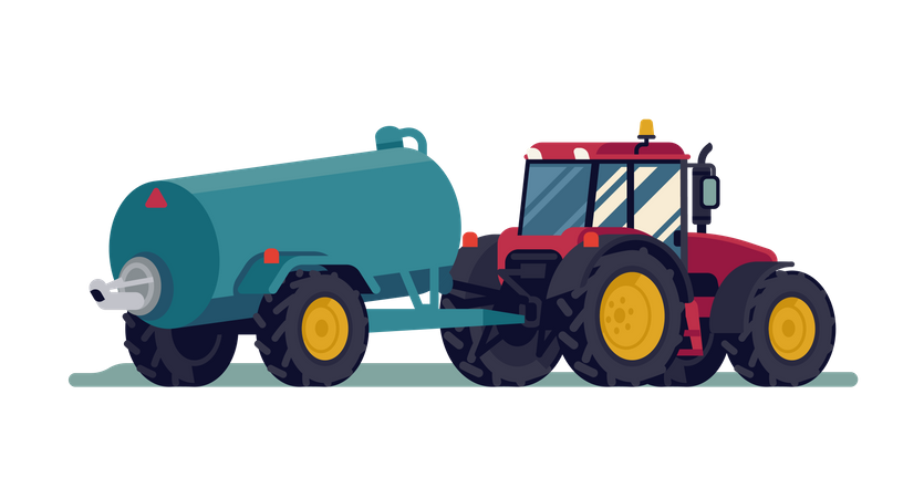 Tractor with slurry tank Illustration