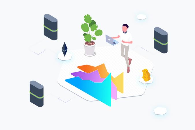 Trade Cryptocurrency Lab Illustration