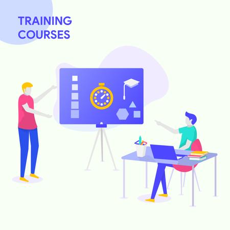Training Courses Illustration
