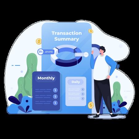 Transaction summary Illustration