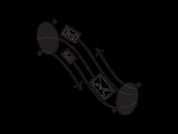 Transfer message Illustration