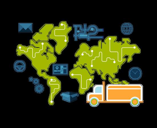 Transport Service Illustration