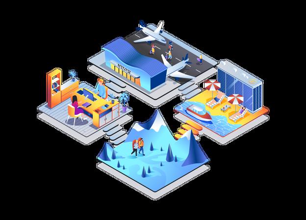 Travel agency Illustration
