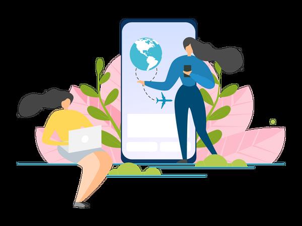 Travel Agency Application Illustration