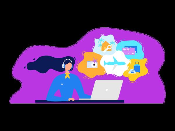 Travel Agency Services Illustration