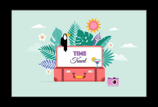 Travel and tourism concept Illustration
