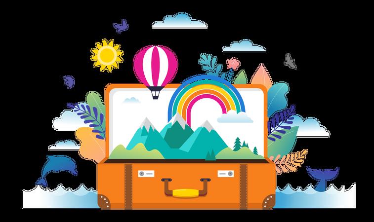 Travel bag Illustration