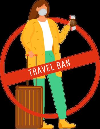 Travel ban Illustration