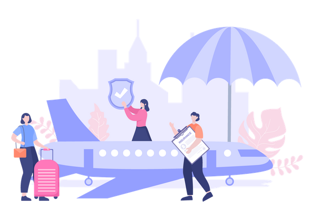 Travel Insurance Illustration