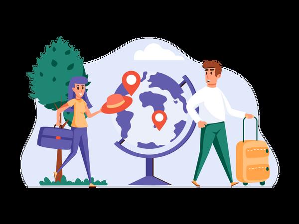 Travel Location Illustration