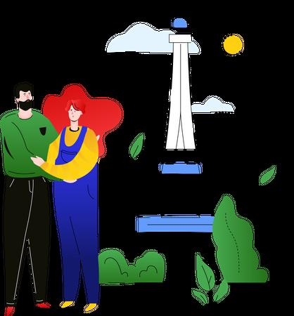 Travel to France Illustration