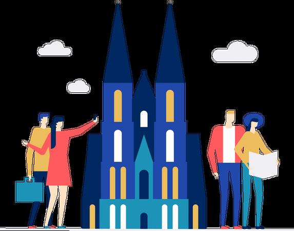 Travel to Germany Illustration