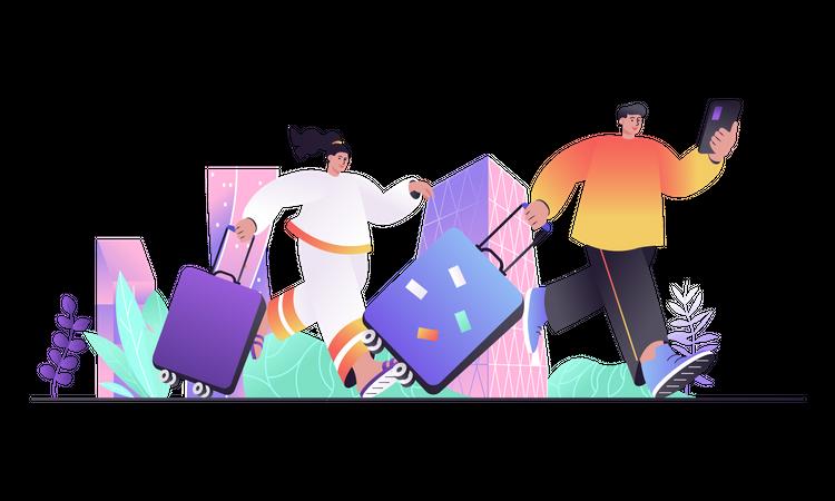 Travel Vacation Illustration