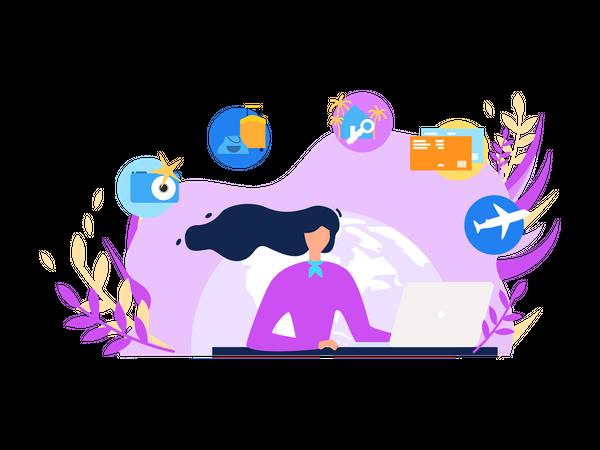 Traveling Agency Illustration