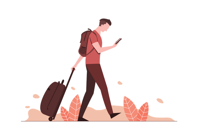 Traveling and vacation Illustration