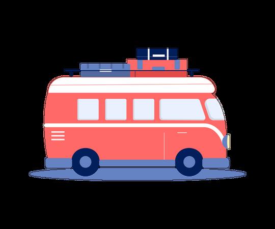 Traveling Van Illustration