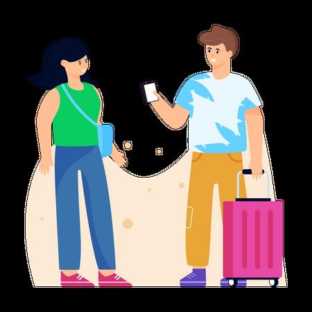 Travellers Illustration