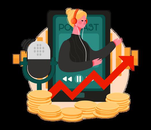 Treading Podcast Illustration