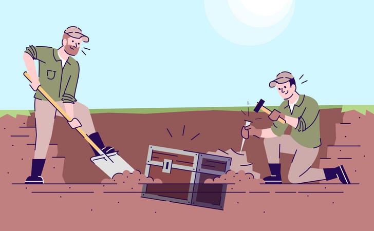 Treasury hunters Illustration