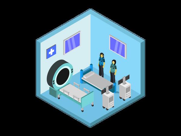Treatment room Illustration