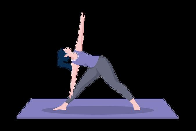 Triangle pose Illustration