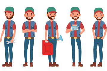 Truck Driver Illustration Pack