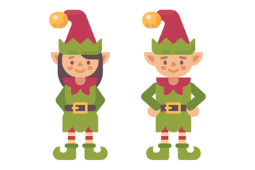 Christmas Characters And Items Stock Images
