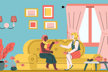 Relaxing People Illustration Pack