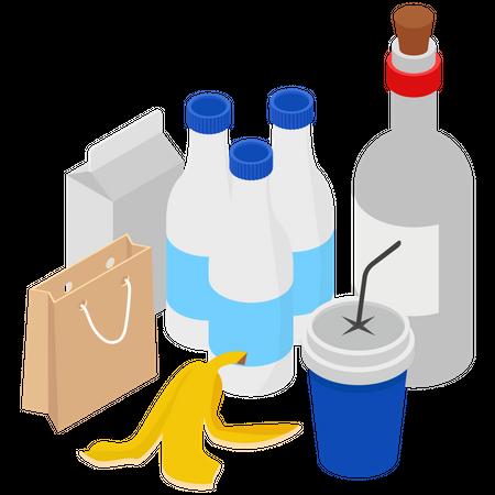 Types of Waste Illustration