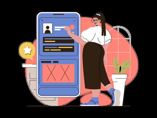 UI-UX development Illustration