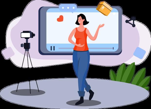 Unboxing video Illustration