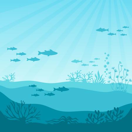 Undersea coral reef Illustration