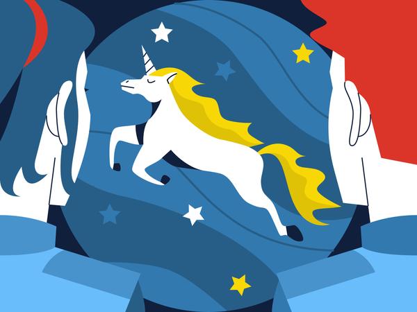 Unicorn Business Startup Illustration