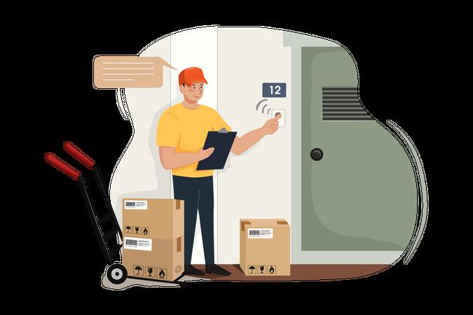 Uniformed deliveryman Illustration