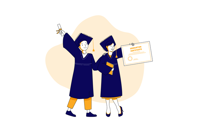 University convocation Illustration