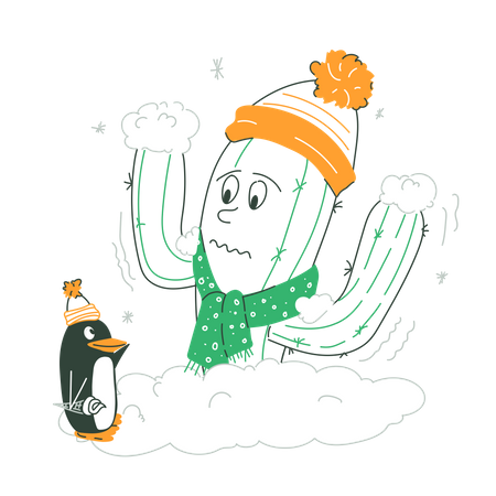 Unstable Weather Temperature Illustration
