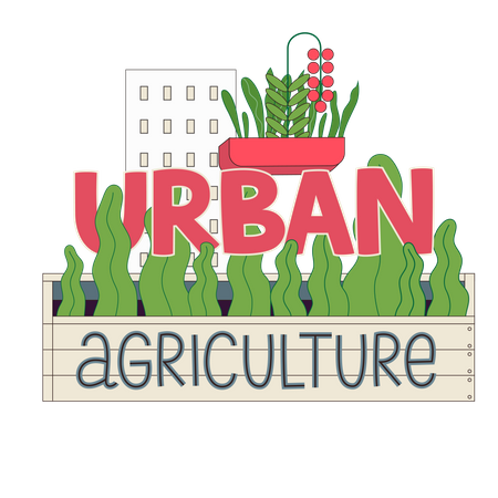 Urban agriculture Illustration
