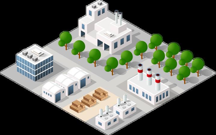 Urban architecture Illustration