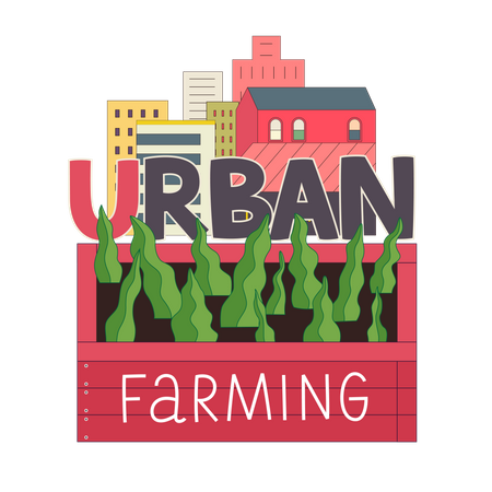 Urban farming Illustration